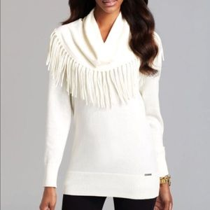 Michael Kors cream fringe sweater